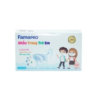 [HCM]Khẩu trang y tế trẻ em kháng khuẩn 3 lớp Famapro max kid ( 50 cái hộp ) thumbnail