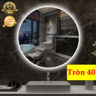 gương trang điểm tròn treo tương, có đèn led cảm ứng hiện đại, kích thước tròn 40 cm - guonghoangkim mirror D40 thumbnail