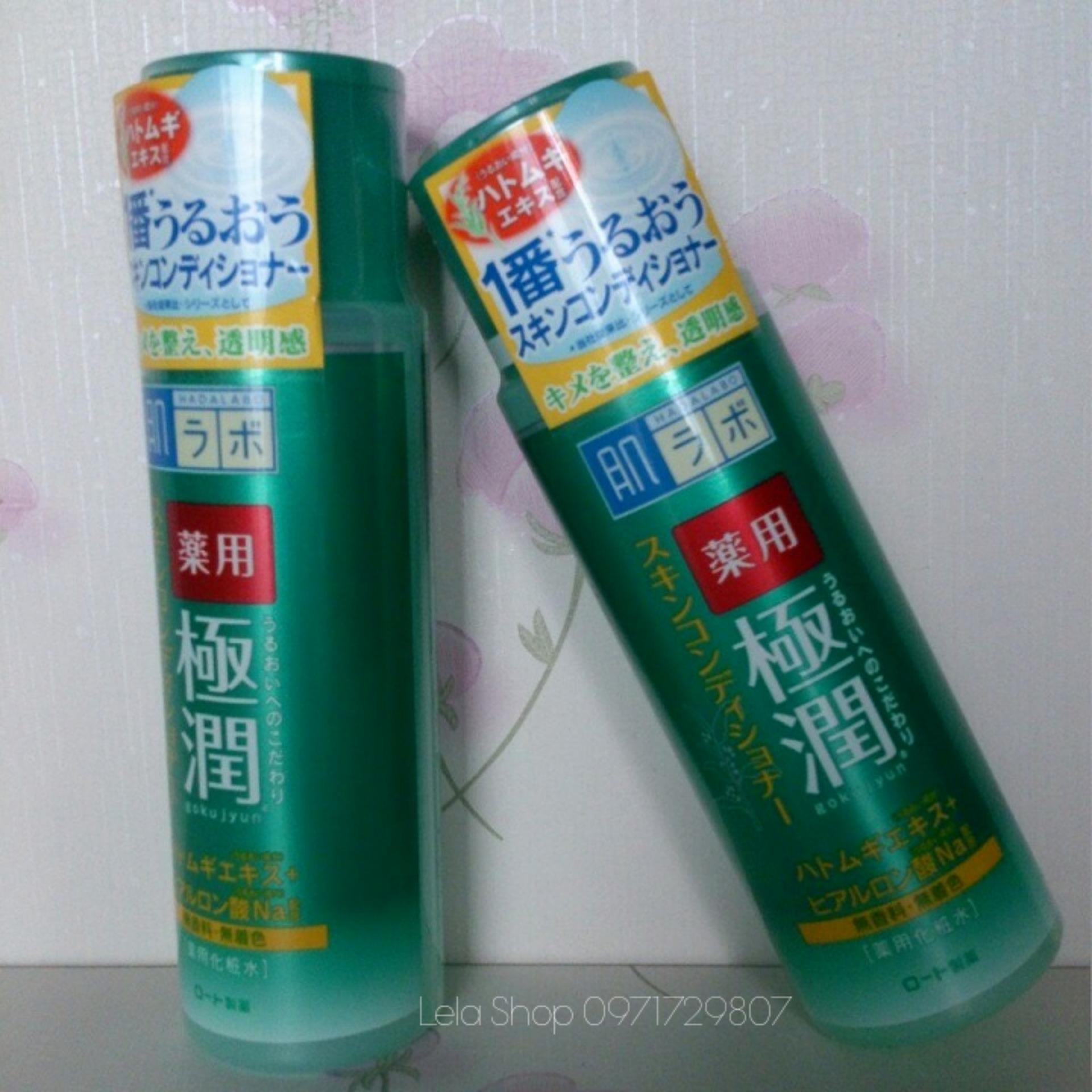 Nước hoa hồng HADALABO xanh sọc vàng ( Cho da dầu mụn ) tốt nhất