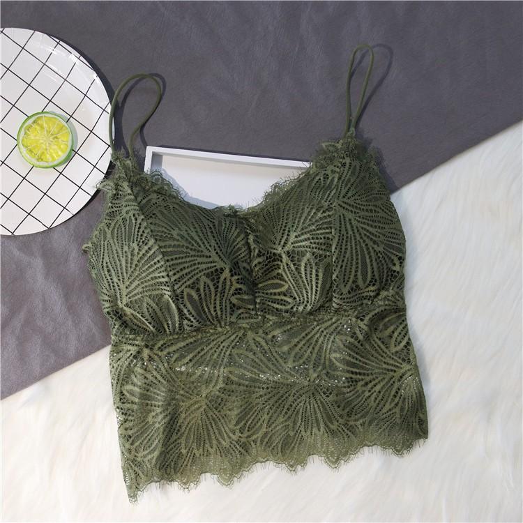 Áo Ren mỏng yếm mang áo lót ngực lưới mặc bên trong gợi cảm (Sỉ )
