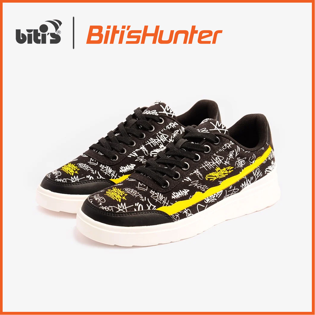 Giày Thể Thao Nữ Biti's Hunter Street VietMax Culture Black Wall DSWH02500DEN