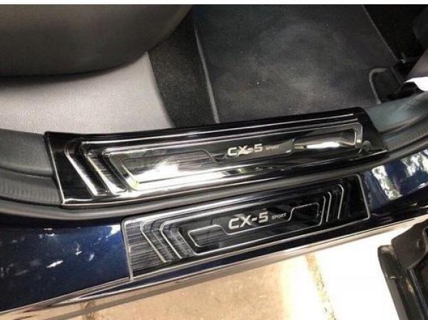 Bộ 4 Ốp bậc ngoài xe Mazda CX5 2014-2018 ( mẫu Titan)