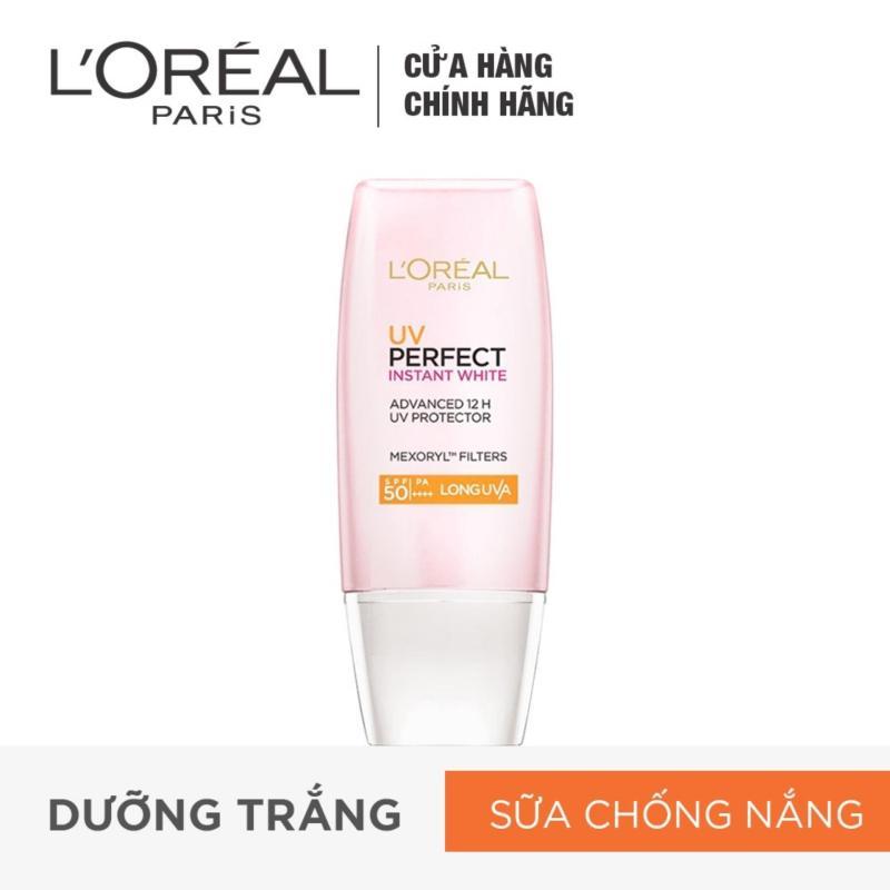 Kem chống nắng dưỡng da trắng sáng tức thì LOréal UV Perfect Instant White SPF50 PA ++++ 30ml nhập khẩu