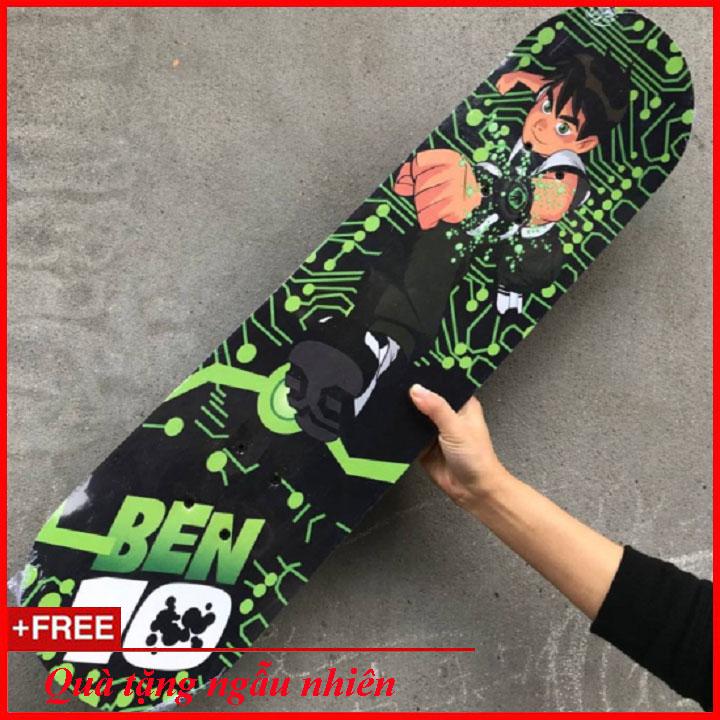 Mua Ván Trượt Ben 10 Độc Đáo Cho Bé (Skateboard )