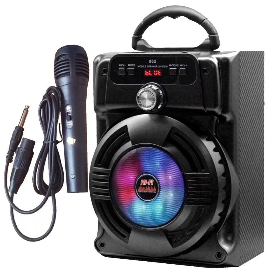 Loa Kẹo Kéo Có Mic Hát Karaoke Nghe Nhạc Bluetooth, cắm thẻ nhớ, nghe đài FM