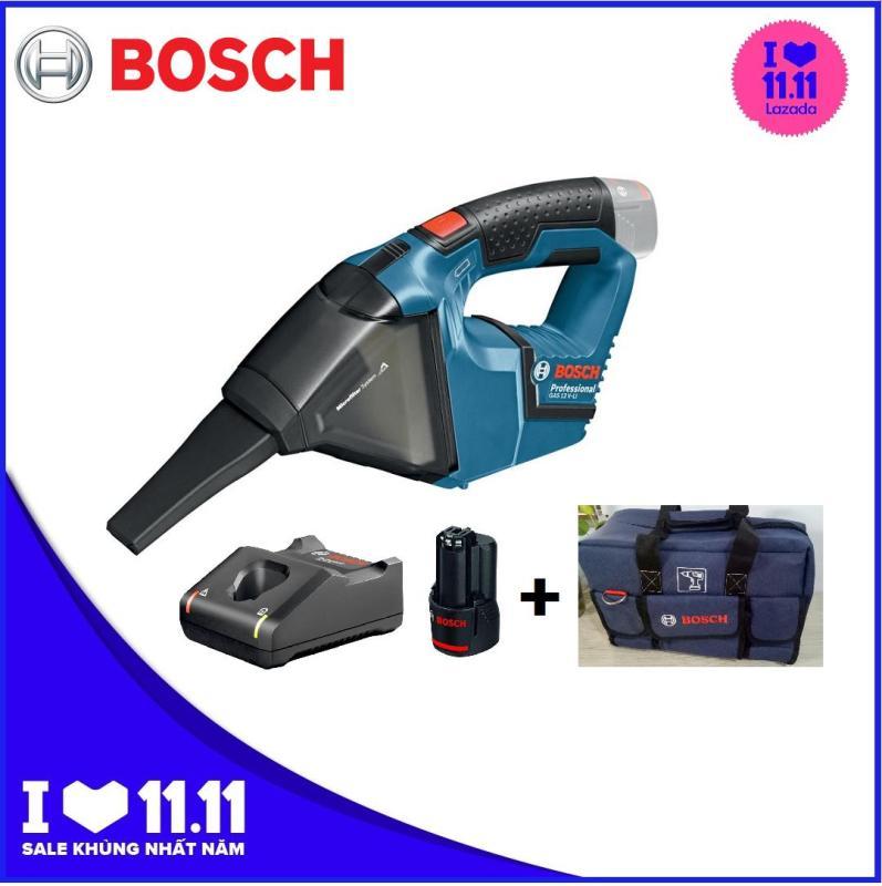 Máy hút bụi  dùng pin 12V Bosch GAS 12V Set Kèm pin, sạc Tặng túi du lịch Bosch