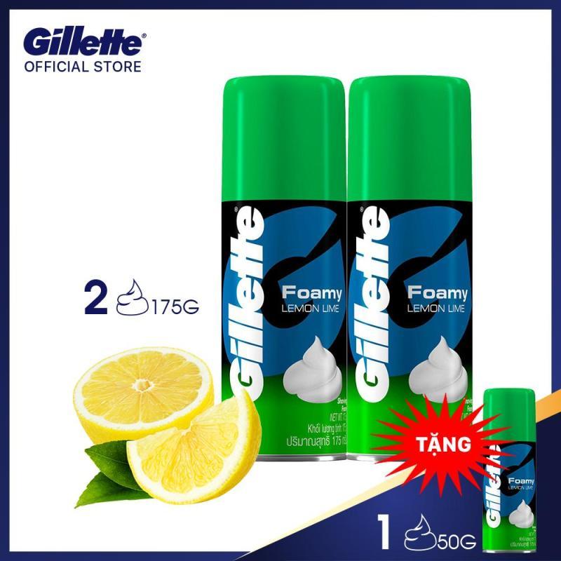 Combo 2 Bọt cạo râu Gillette Hương Chanh 175g (tặng kèm 1 chai 50g)