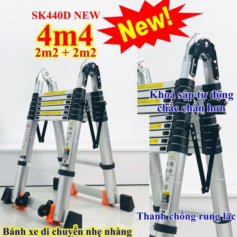 Thang nhôm rút chữ A 4m4 (2m2 + 2m2) Sumika SK440D NEW