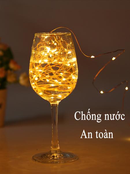 Dây đèn LED trang trí 2M Giáng sinh,phong cách ins, đèn dây đồng chống nước hoạt động bằng pin, dùng trường hợp vòng hoa, đám cưới, tiệc