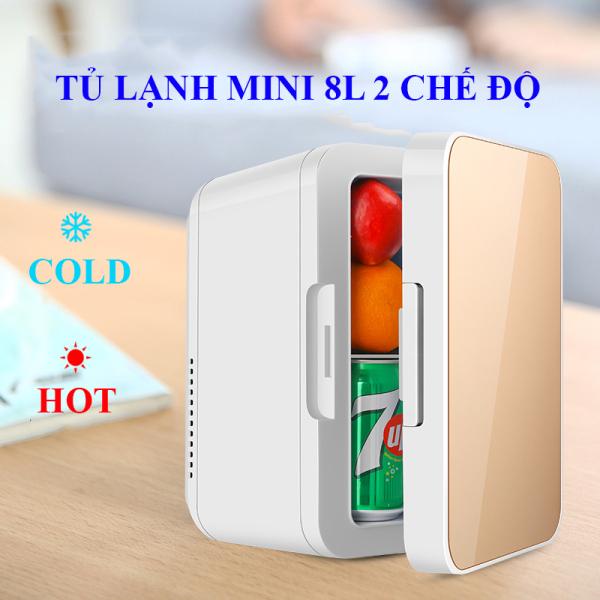 [8 LÍT] Tủ lạnh, tủ mát mini 8 Lít, hai chiều nóng lạnh dùng cả trong nhà, trên oto, xe hơi Cao cấp Agiadep,Tủ lạnh mini 2 chế độ nóng lạnh 8 lít (Bảo hành 1 đổi 1 trong 7 ngày)