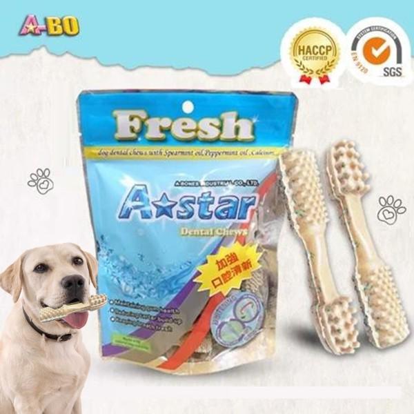 Xương gặm cho chó A-star 90g Hình bàn chải trắng sửa, Xương gặm sạch răng cho chó cao cấp, giúp thơm miệng, ngừa viêm nướu