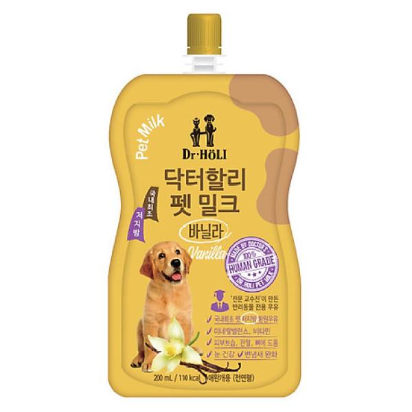 Sữa nước cho chó mèo tăng sức đề kháng Dr. Holi Pet Milk Vanilla 200ml