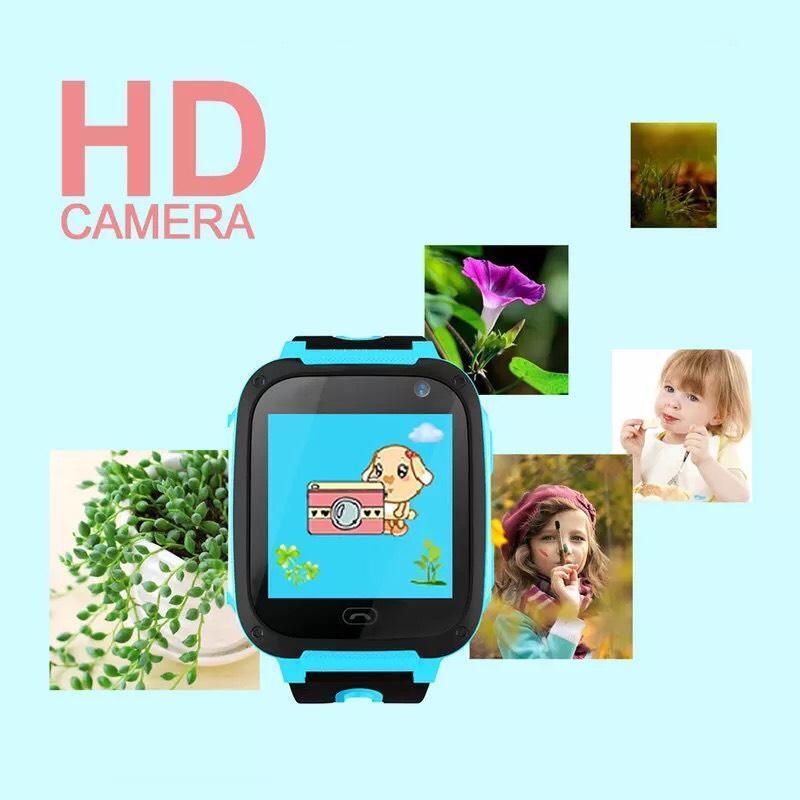 Đồng hồ định vị trẻ em S4 có Camera, Đèn pin, chống nước nhẹ - Đồng hồ thông minh trẻ em, đồng hồ trẻ em