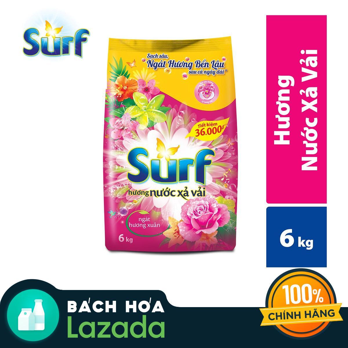 Giá Quá Tốt Để Mua Bột Giặt Surf Hương Nước Xả Vải Ngát Hương Xuân 6kg