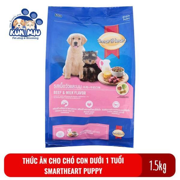 Thức Ăn Cho Chó Con Dưới 1 Tuổi Smartheart Puppy 1.5 Kg - Thức Ăn Smartheart Cho Chó Con