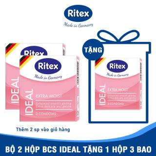 [Hộp 3 chiếc] Bao cao su RITEX IDEAL Siêu ẩm ướt - Thêm gấp đôi chất bôi trơn Êm ái và dịu dàng hơn Bao cao su hàng đầu tại Đức (Có che tên) TM-RI-IDEAL3 thumbnail