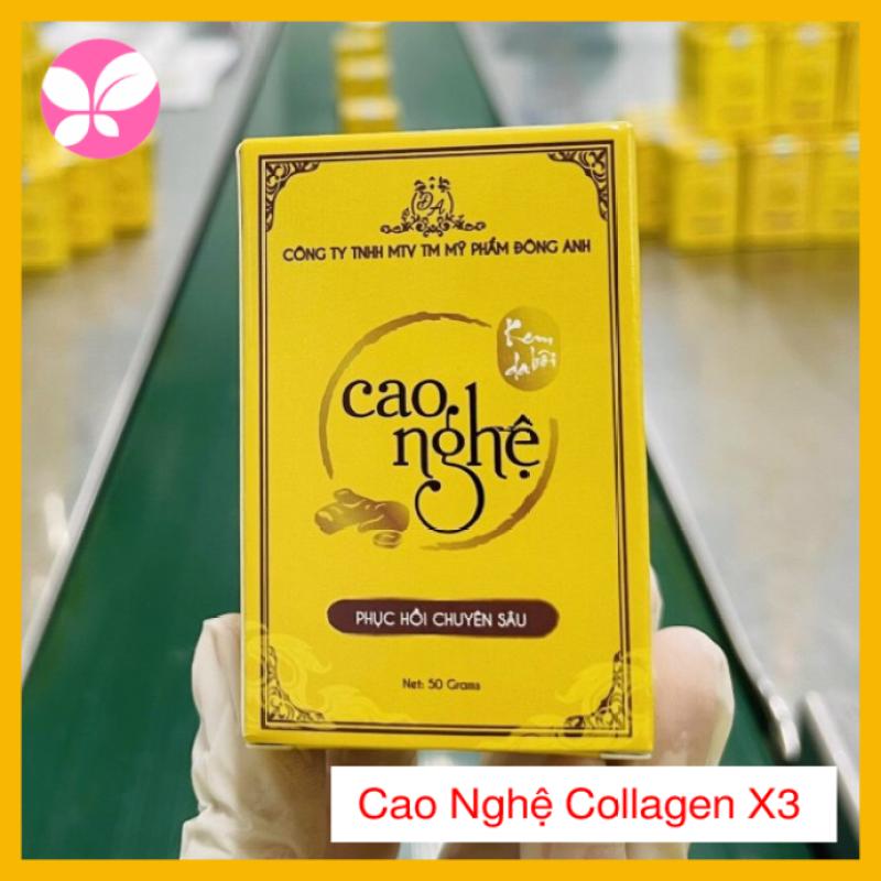 Cao nghệ Collagen X3 Đông Anh 50gr - Chính hãng - Dưỡng ẩm chuyên Sâu - Giảm thâm nám - Trắng da hiệu quả