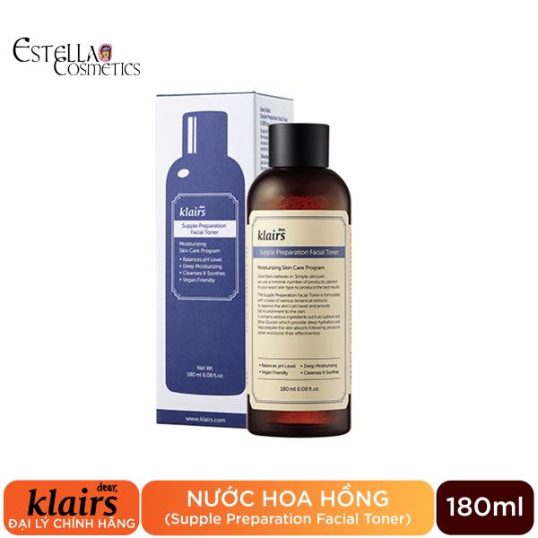 Nước Hoa Hồng Chống Viêm, Dưỡng Ẩm Klairs Supple Preparation Facial Toner 180ml