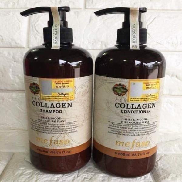 Dầu gội cặp Mefaso colagen 850ml-cặp dầu gội COLAGEN-Cặp Dầu Gội Xả Mefaso Colagen hàng siêu hót giá rẻ