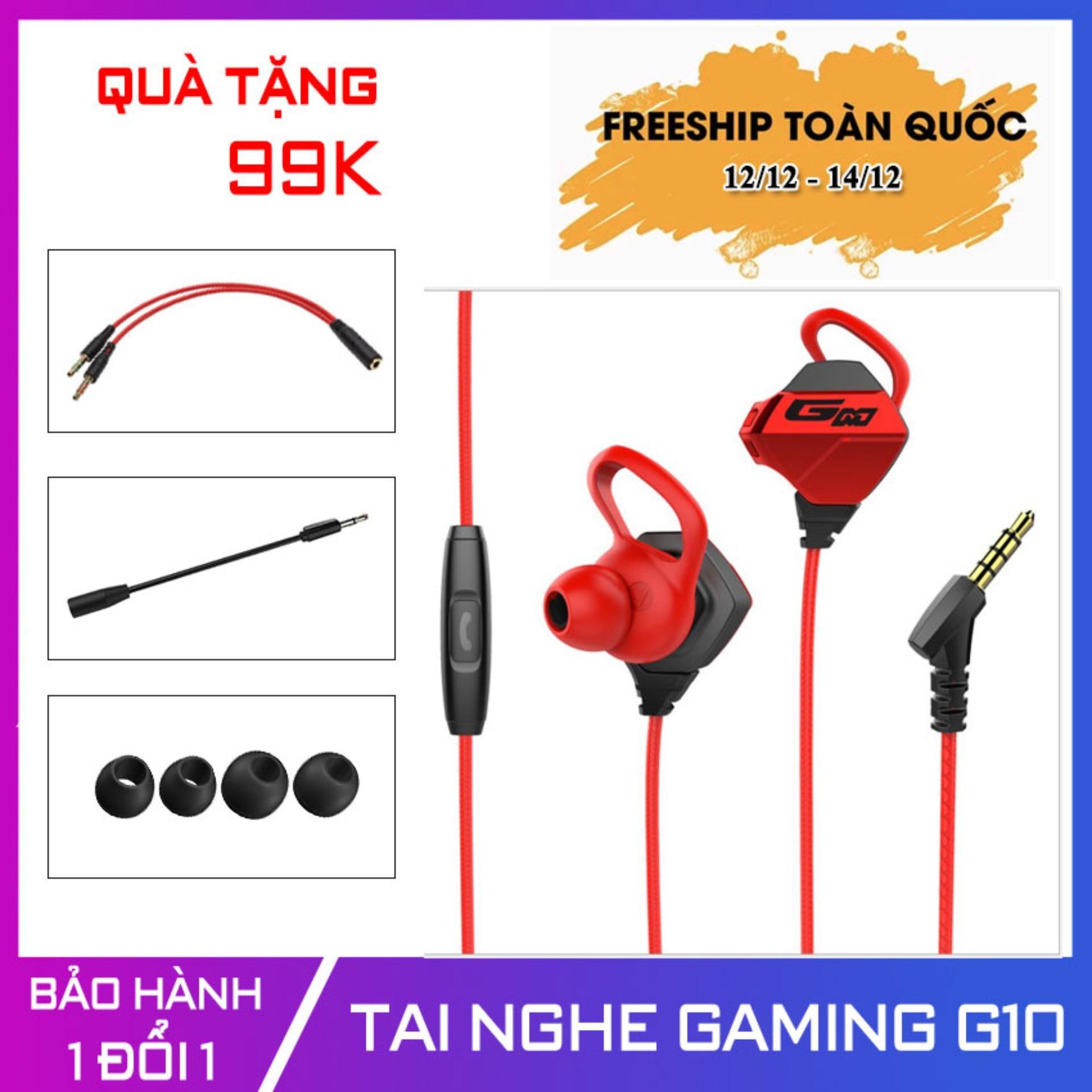 Tai Nghe Gaming Có Mic G10 Chân 3.5mm [Có Micro Tháo Dời; Siêu Bass] Hỗ Trợ điện Thoại, Máy Tính, Laptop - Tonoto Store Giá Tốt Không Nên Bỏ Lỡ