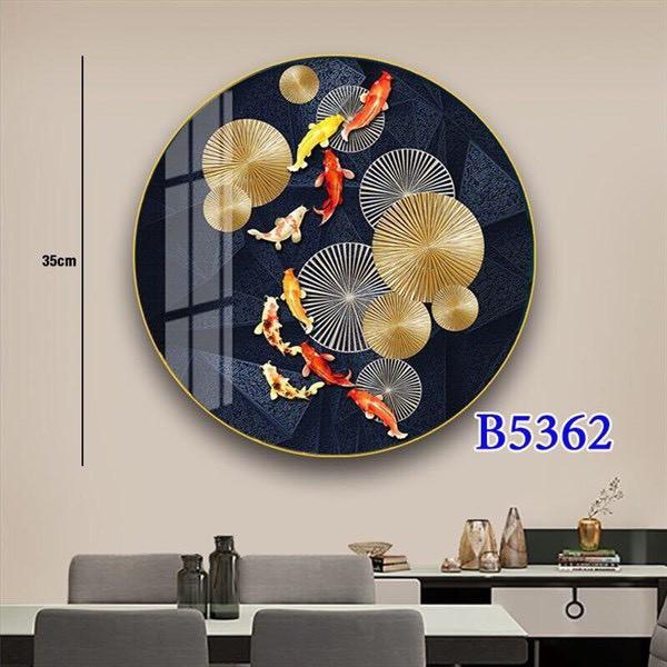 Bảng giá Tranh đèn Led 3 chế độ ánh sáng·5d hình tròn gắn tường trang trí phòng khách, phòng ngủ phong cách châu Âu - Phương Anh