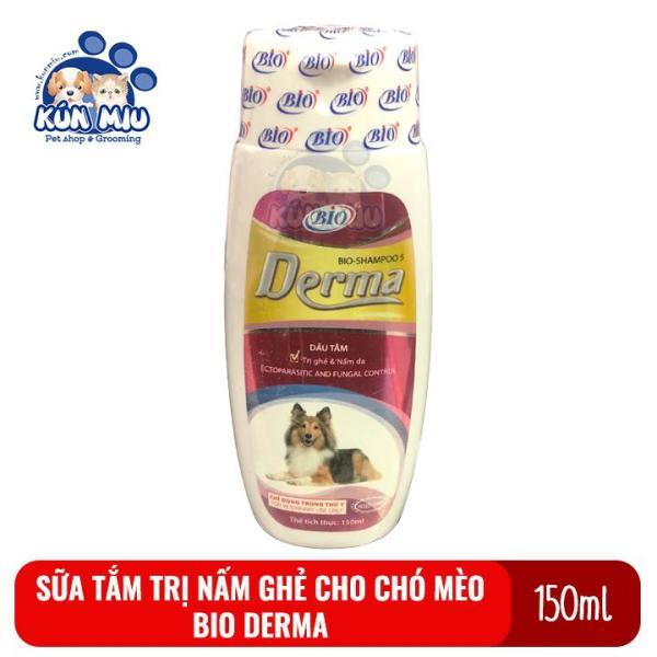 Sữa tắm chuyên diệt ghẻ, nấm da, các bệnh ngoài da cho chó mèo Bio Derma 150ml