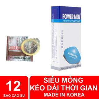 Bao Cao Su, Siêu mỏng, Kéo Dài Thời Gian Powermen Viagra - Hôp 12 chiếc thumbnail