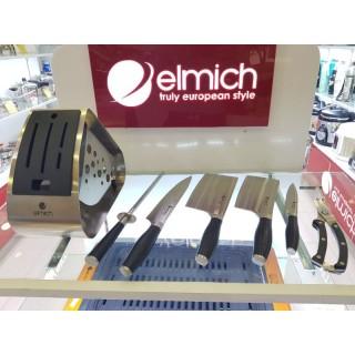 Bộ dao inox Elmich 7 món (4 dao, 1 kéo, 1 thanh mài dao, 1 giá để dao) EL3800 thumbnail