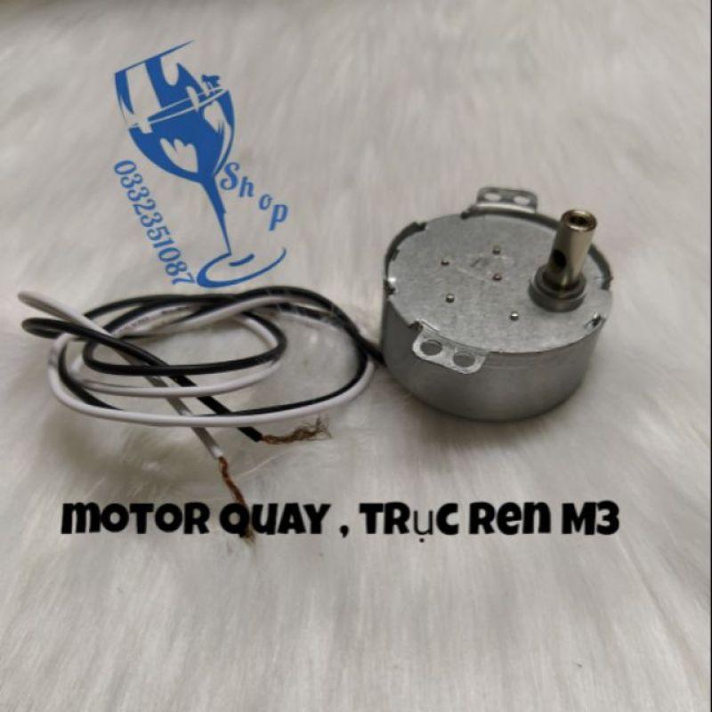 Motor quay chậm- tuốc năng có ren M3 lắp trong đèn hào quang
