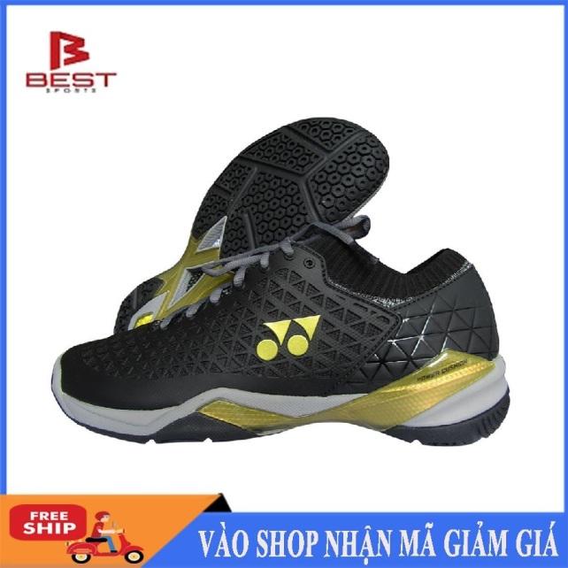 Giày cầu lông Yonex cao cấp, chống lật cổ chân, dành cho nam và nữ, hàng có sẵn, màu đen viền xanh, đủ size - Giày cầu lông chuyên dụng - Giày bóng chuyền nam nữ - Shop thể thao giá rẻ