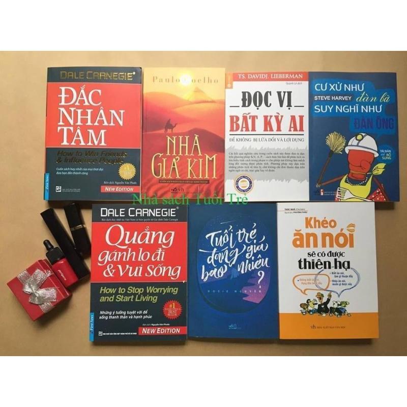 Mua Combo 7 sách kĩ năng hay: Đắc nhân tâm, Nhà giả kim, Đọc vị, Cư xử như đàn bà, Quẳng gánh lo, Tuổi trẻ, Khéo ăn nói
