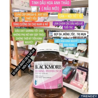 Tinh dầu hoa anh thảo Blackmore Úc. Blackmores Evening primrose oil 190v hỗ trợ cân bằng nội tiết tố thumbnail