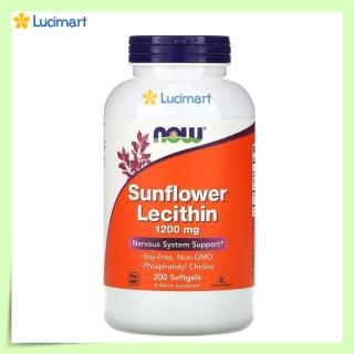 Viên uống chống tắc tia sữa Now Sunflower Lecithin 1200 mg [Hàng Mỹ, hạn dùng 2023] thumbnail