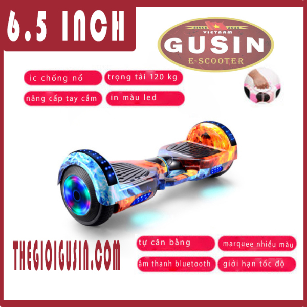 Mua xe điện cân bằng 6.5 inch gusin - xe thăng bằng - xe tự cân bằng - xe cân bằng 2 bánh - xe e-scooter