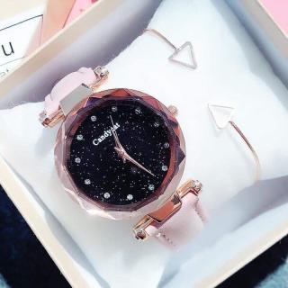 Đồng hồ thời trang nữ Candycat dây da nhung QA870 thumbnail