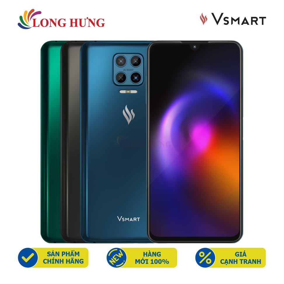 [Trả góp 0%] Điện thoại Vsmart Aris (6GB/64GB) - Hàng chính hãng - Màn hình AMOLED 6.39inch Bộ 4 camera sau Pin 4000mAh cảm biến vân tay trên nút nguồn
