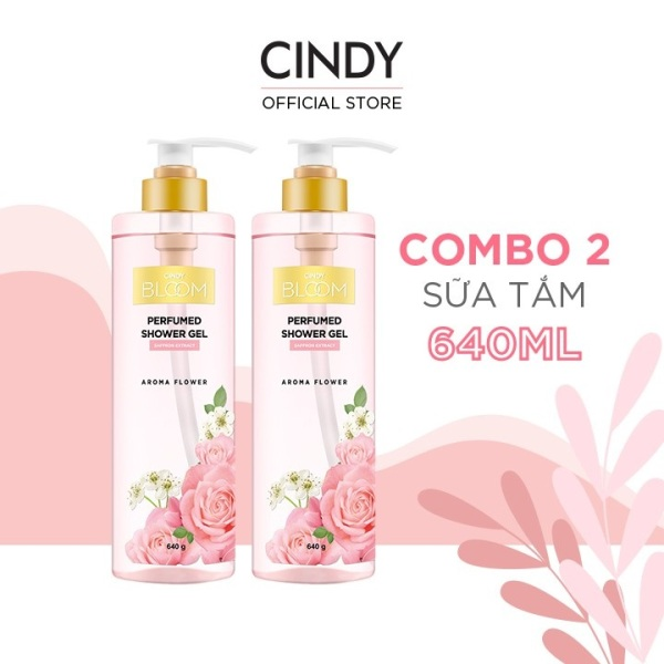 Combo 2 Sữa Tắm Nước Hoa Cindy Bloom Aroma Flower 640g/chai