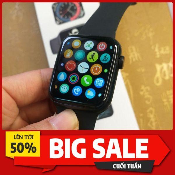 Đồng hồ thông minh S6 chuẩn Apple Watch. Tặng kèm 1 dây đeo. Thay được hình nền cá nhân. Nghe gọi bluetooth, tiện ích chăm sóc sức khoẻ. BH 12 tháng