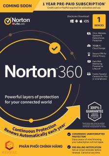 Norton 360 1PC 12 Months Subscription thumbnail