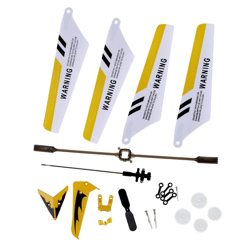 Syma Full Set Replacement Parts For Syma S107 RC Helicopter, Main Blades, Main Shaft,Tail Decorations, Tail Props, Balance Bar, Gear Set,Connect Buckle-Yellow Set- Giá Sốc Nên Mua