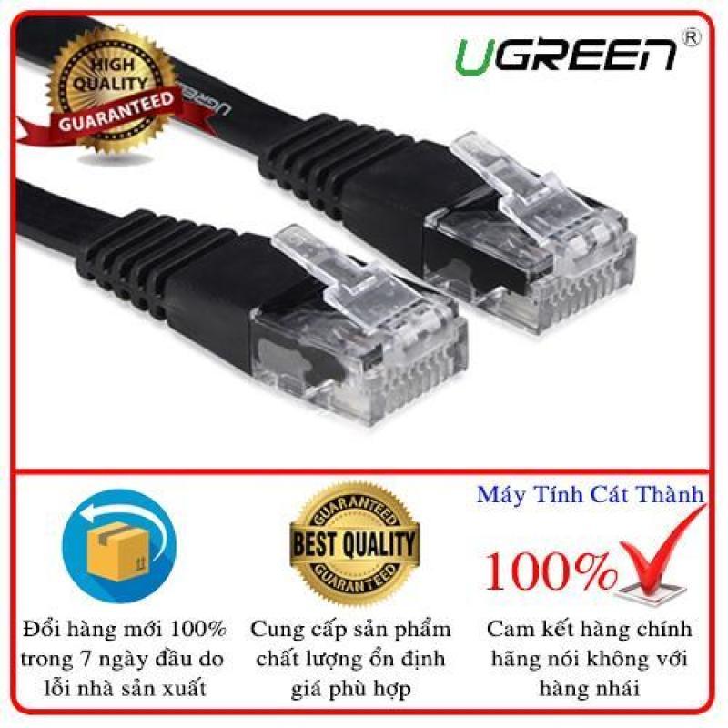 Bảng giá Dây mạng 2 đầu đúc Cat6 UTP dây dẹt dài 3m UGREEN NW104 11237 (đen) Phong Vũ