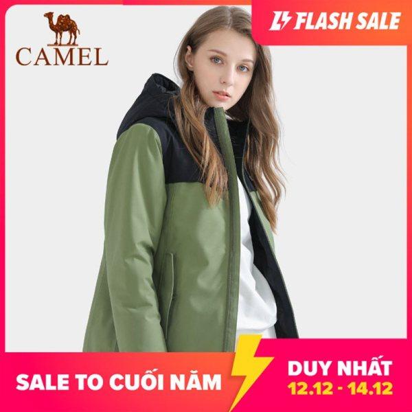 Áo khoác nữ chất liệu dày dặn giữ ấm chống nước thích hợp mùa thu mùa đông thương hiệu Camel, size lớn