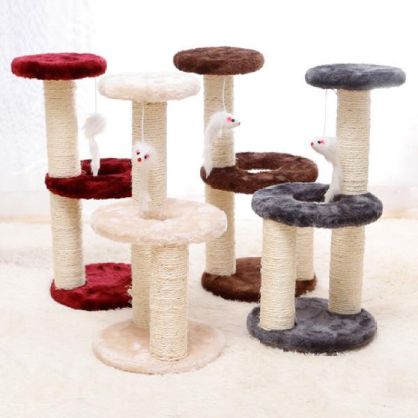 Catree tròn trụ cào móng cho mèo (tháo lắp được), cam kết sản phẩm như hình, cam kết chất lượng