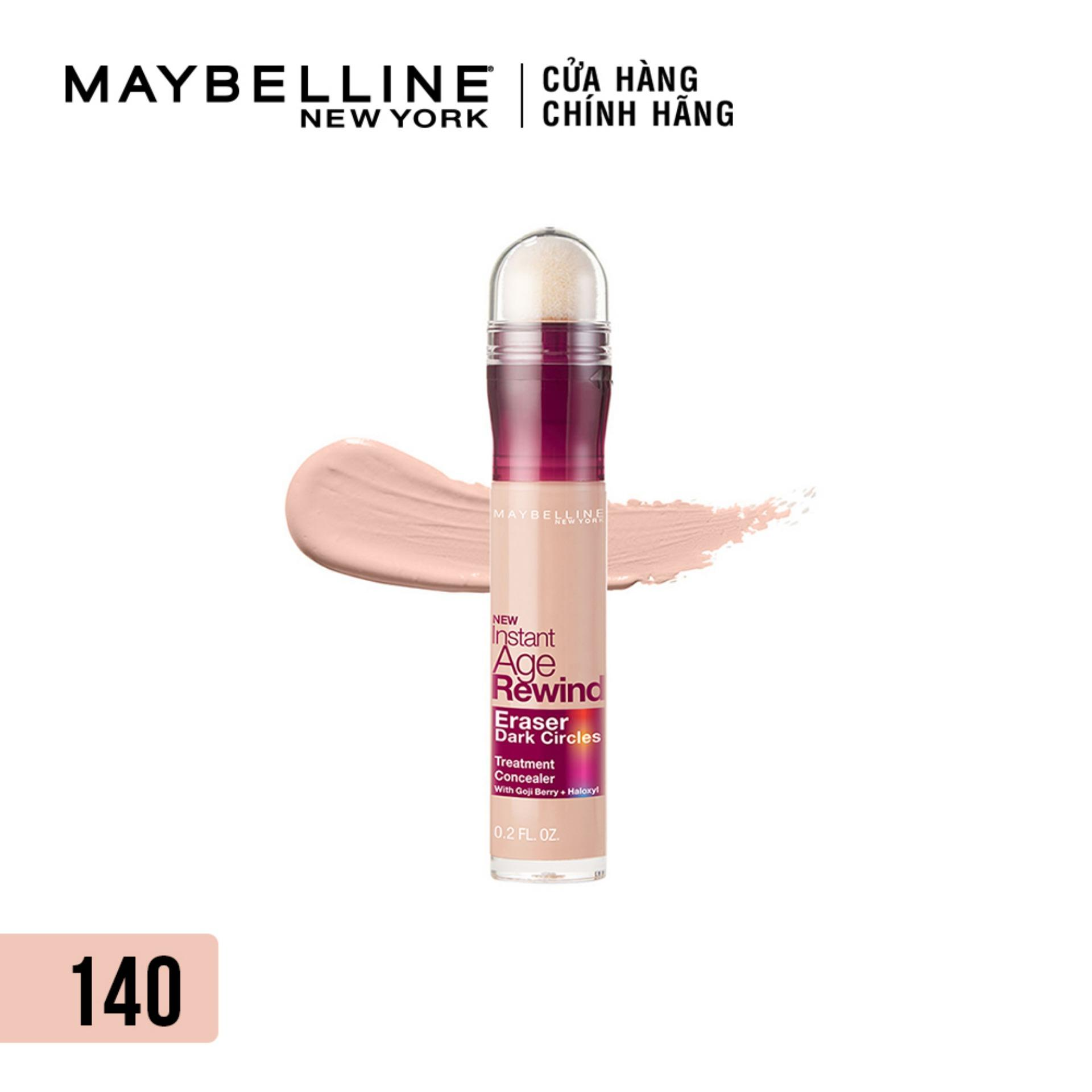 [TẶNG] Bút cushion che khuyết điểm, giảm quầng thâm Maybelline New York Instant Age Rewind Concealer 6ml