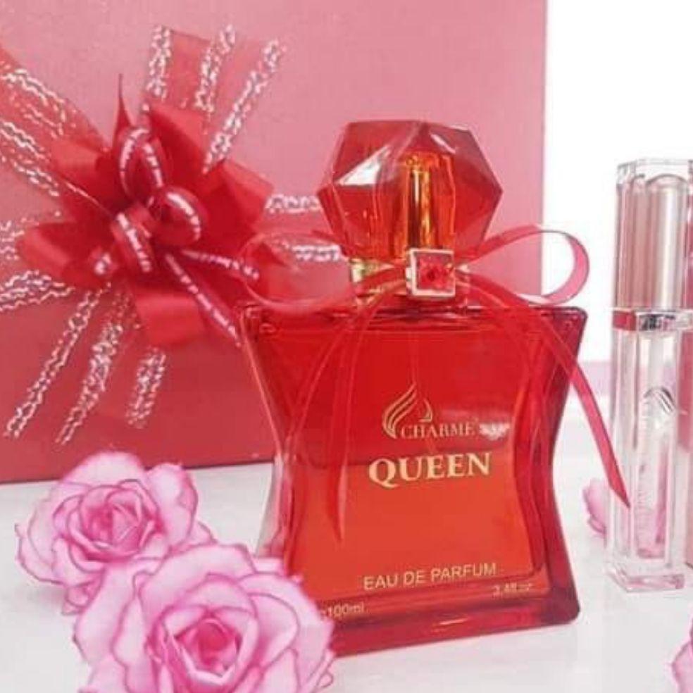 Nước hoa nữ queen 100ml + gel rửa tay khô diệt khuẩn cao cấp
