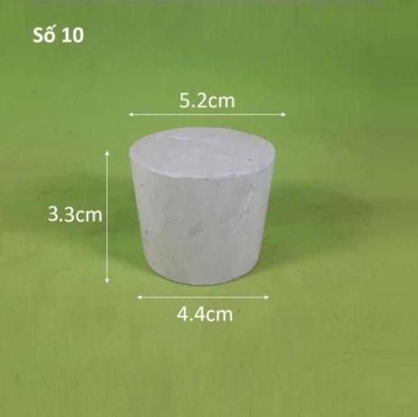 Nút cao su số 10, đường kính đáy lớn 5.2cm, đường kính đáy bé 4.4cm, chiều cao 3.3cm cao cấp