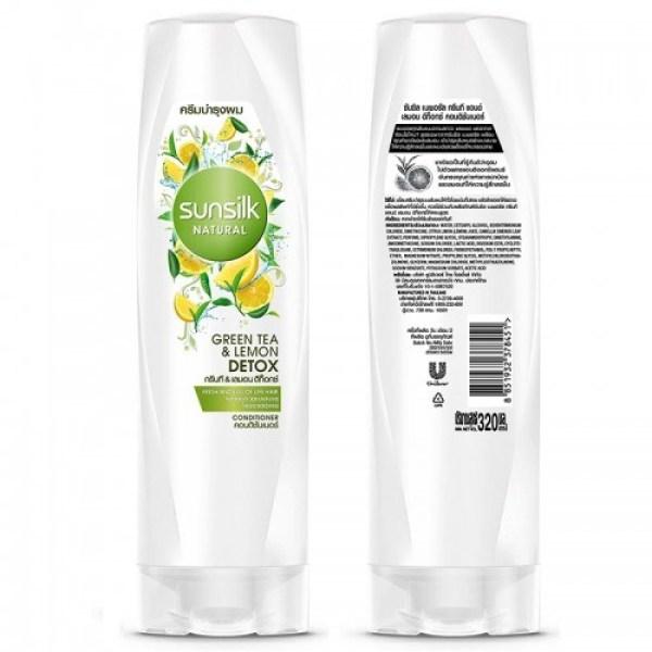 Dầu XảSunsilk Thái Lan Natural Green Tea & Lemon Detox 120ml