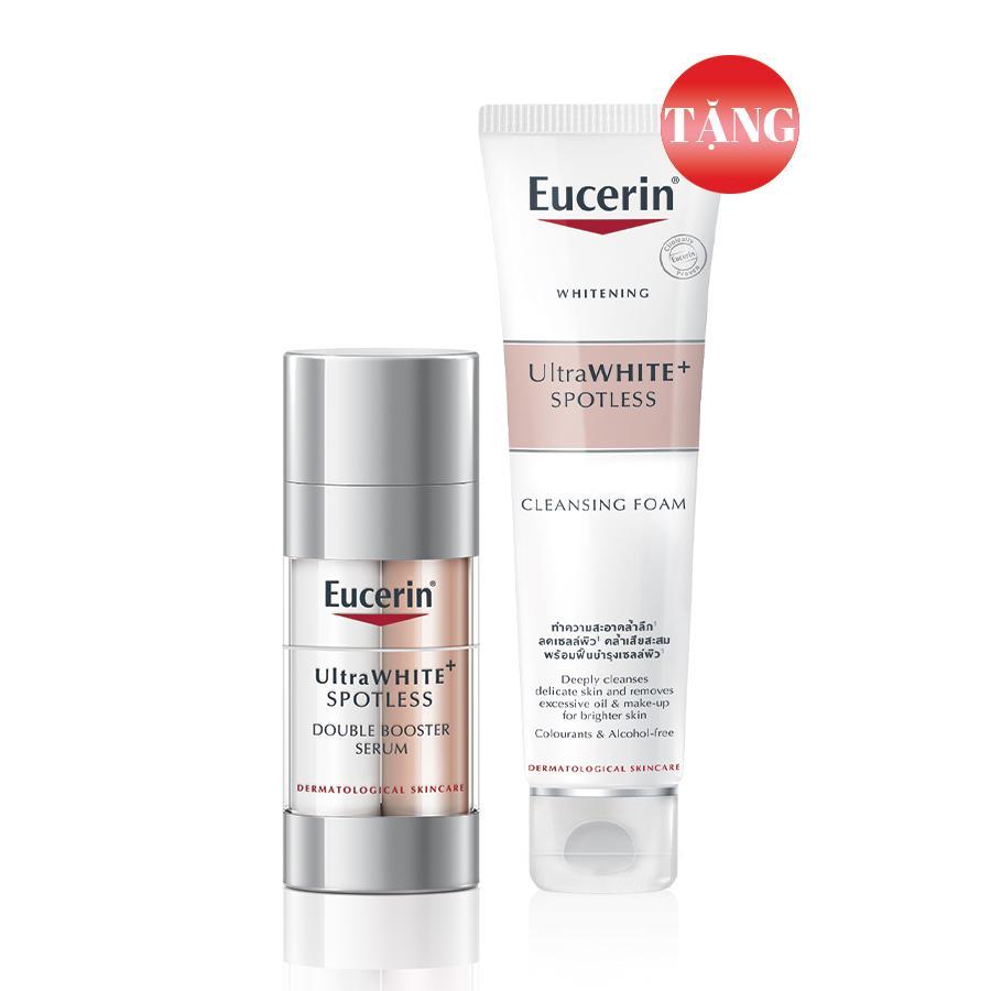 Eucerin Tinh Chất Giảm Thâm Nám Tặng Sữa Rửa Mặt Trắng Da Eucerin Ultrawhite+ Spotless 150g