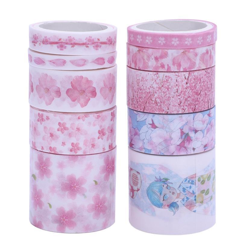 Mua 10Pcs/Lot Cute Masking Washi Tape Set Stationery Kawaii Scrapbooking Supplies Sticker