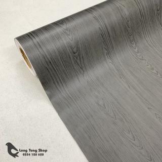 Decal gỗ màu đen - Giấy dán tường bàn tủ có sẵn keo ( gỗ G13 ) thumbnail